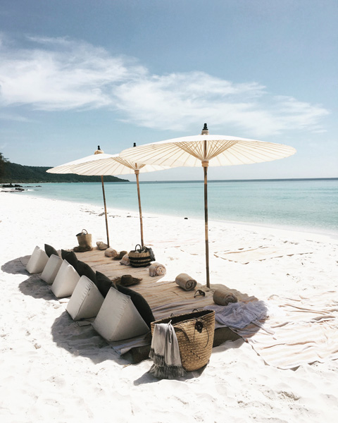 Tropical Island Picnic, Song Saa Private Island, Cambodia by ELSEWHERE