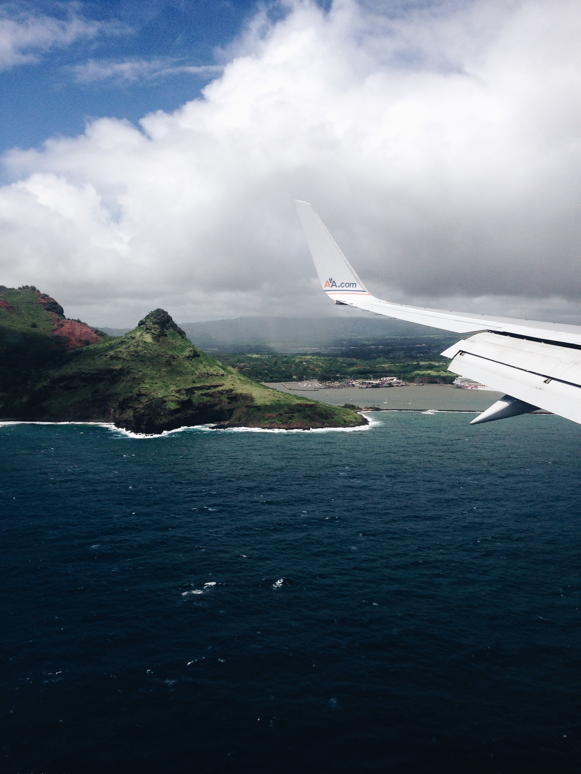 Ariel View of Kauai From an Airplane Window - ELSEWHERE